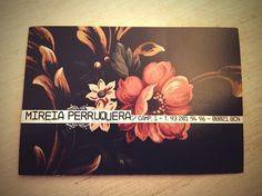 MIREIA PERRUQUERA hairdresser on the Behance Network #haircutting #juanra #mireia #bussiness #cards #perruquera