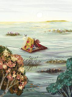 Little hedgehog on Behance, awesome book illustrations. #badger #illustration #drawing #hedgehog