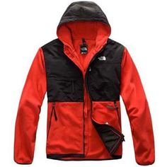 North Face Denali Fleece Hoodie Red-Mens #fashion