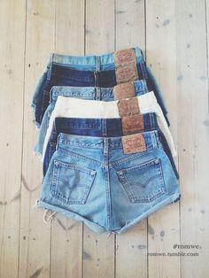 Likes | Tumblr #shorts #vintage #jeans