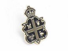 Claridges_pin_black1 #pin #crown #crest
