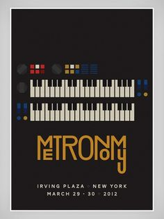 Metronomy - James Kirkups portfolio #irving #keyboard #2012 #gig #march #metronomy #poster #york #plaza #new