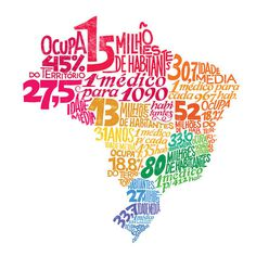 Typography map of Brazil on Behance #type #posters