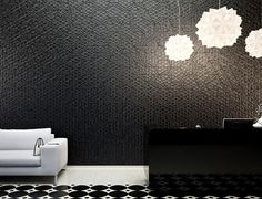 Organic Geometric Concrete Tile by KAZA Concrete concrete tile collection living room interior