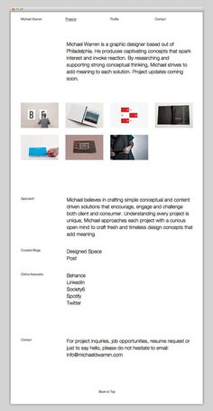 Michael Warren #design #website #grid #layout #web