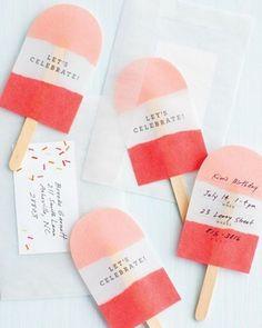 Fancy - Popsicle Invites