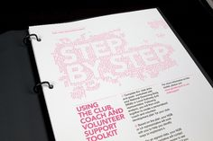 Greater Sport – Changing Lives Strategy Pack / Work / Creative Spark in Manchester #print #typography