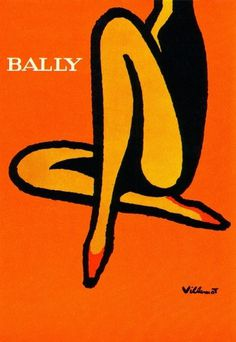 All sizes | Bernard Villemot Illustration | Flickr - Photo Sharing! #villemot #shoes #1960s #illustration #poster #bernard #bally