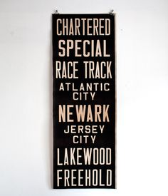 Image of Bus Scroll #typography #poster #signage #jersey #new