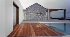 contemporary architecture with traditional materials