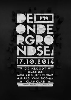 De Ondergrondse on Behance #design #graphic #poster
