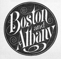 Boston & Albany Railroad | Sheaff : ephemera #logo #illustration #vintage #typography