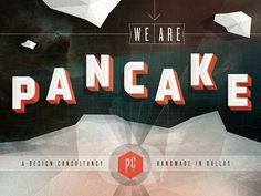 All sizes | Pancake WIP | Flickr - Photo Sharing! #knockout #type #detroit #graphic