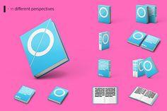 minimal cover design #hardcover #vector #minimalistic #mock #pink #mockup #design #books #book #graphic #cover #present #up #minimal #blue #minimalist