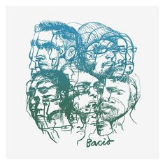 #bacio, #album cover, #illustration, #cd, #vinyl, #green, #blue, #gradient