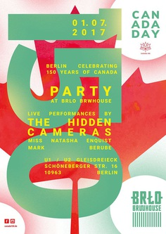 Poster for the canada day Berlin 2017. Design by Biro (Janja Milosevic & Sven Gabriel). #design #graphicdesign #poster #typography