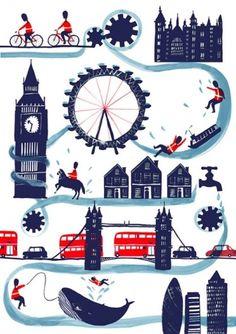 charlottetrounce_05.jpg (510×721) #london #illustration #watercolor