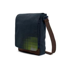 #pixo #darkblue #bag #messenger #shoulderbag #pixel #atom #green #pixelate