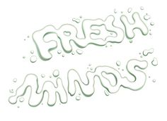 Fresh Mind - Drop Lettering #lettering #white