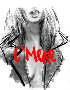 C' M E R E - Rosco Flevo #scum #antics #woman #female #future #illustration #liebe #postartfuckery #art #deutsch #love #german