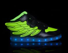 light up shoes led shoes Super-Pegasus-Black-Green