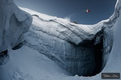 Extreme Sports Photography by Tristan Lebeschu | Cuded #snow #cliff #photography #sports #extreme #snowboard #ice
