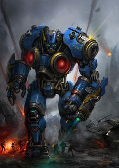 Destroyer by Pirate #robot #futuristic #fi #sci #space #warrior #mech