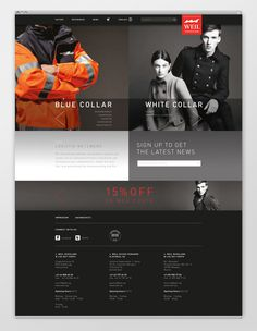 Wear Website by Katharina Mauer #web
