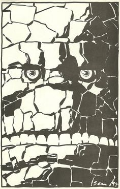 The Thing by Sean Phillips #white #rock #eyes #black #thing #and #face #comics