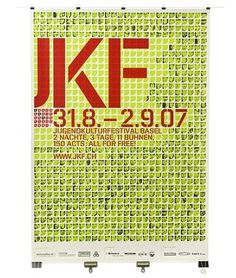 Corporate Identity JKF Jugendkulturfestival Basel #swiss #poster #typography
