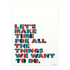 Image of Let's Make Time print #text