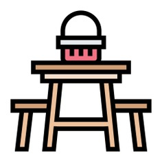 See more icon inspiration related to picnic, bench, chair, seat, dinning, furniture and household, public, furniture and tablet on Flaticon.