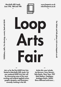 Typefloat » Loop Arts Fair #type #print #identity #logo