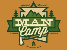 Dribbble - mancamp™ by James William Evans #trees #mountains #camping #man camp