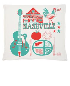 Nashville/Hey Rooster General Store | Claudia Pearson Illustration