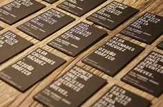 Tarjetas personales - o.cacenabes #card #black #wood #personal #tarjet