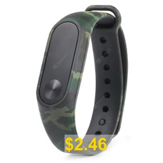 Camouflage #Silicone #Wrist #Strap #For #Xiaomi #Mi #Band #2 #Smart #Watch #- #WOODLAND #CAMOUFLAGE