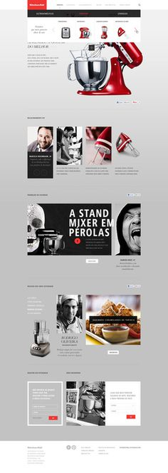 KITCHEN AID Caio Rogério #minimal #clear #web #web design