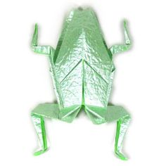 How to make a traditional origami frog (http://www.origami-make.org/howto-origami-frog.php)