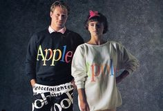 Apples 1986 Clothing Line #fashion #apple #clothing #1980s
