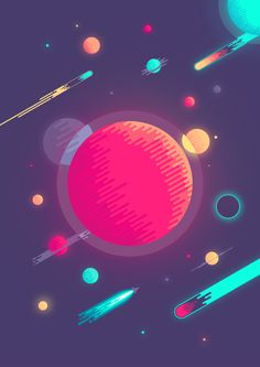 What Space Really Looks Like on Behance #design #graphic