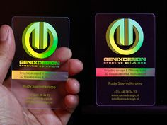 Holographic Business Card #inspiration #creative #holographic #business #card #design #unique