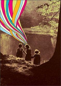 bakmaya değer. #rainbow #sepia #children #dreams