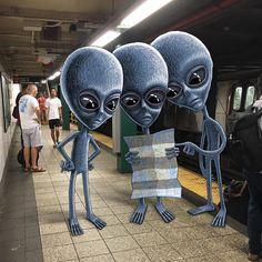 NYC Subway Doodles by Ben Rubin
