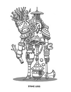 Stove Legs on Behance #warrior #illustration