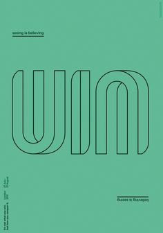 Creative Review - Conqueror's Typographic Games winners #typography #poster #win #conquer