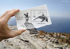 Pencil Vs Camera by Ben Heine #creative #photography