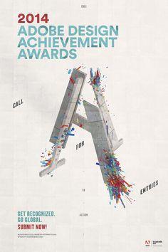 Adobe Design Achievement Awards 2014 #poster #graphicdesign #ADAA2014 #typography #3dtype #jeffhandesign