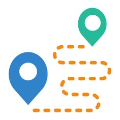 See more icon inspiration related to gps, start, pin, finish, route, map location, position, placeholder, map pointer, map point and signs on Flaticon.