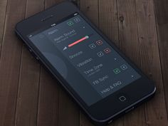 Tick Tock Settings #flat #design #ui #minimal #ios